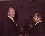 Mr. William (Principal) welcoming His Highness The Aga Khan - 1982 Silver Jubilee school visit