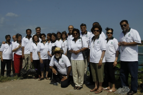 THE GROUP IN THEIR REUNION SHIRTS AT LIGHTHOUSE