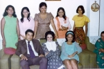 CLASS GIRLS AT MAWJI WEDDING - FEB 1974 - Parvin Karsan, Zaitun Samji, Najma Jetha, Nargis Stock, Nurjehan Kanji and Sha