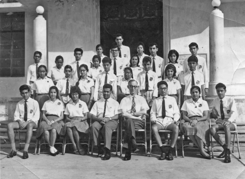 1964 Picture - School Prefects with Mr. Corkery & Mr. Carneiro
